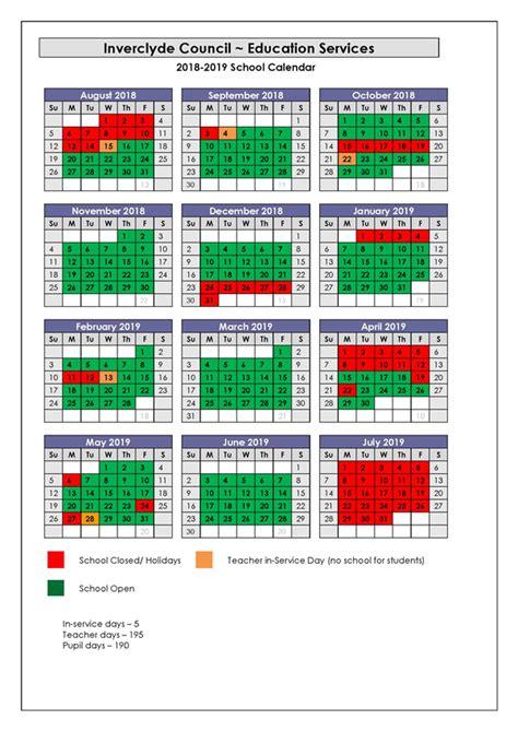 inverclyde council school holidays