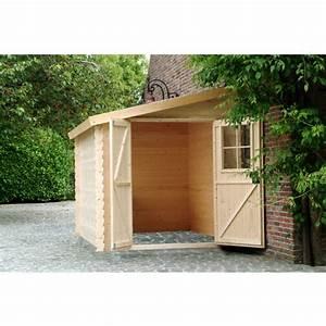 petit abri de jardin bois adossable nousu 467m2 pas With remise en bois pour jardin