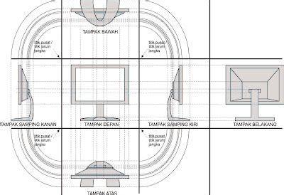 gambar ortografis lcd tv orthographic drawing