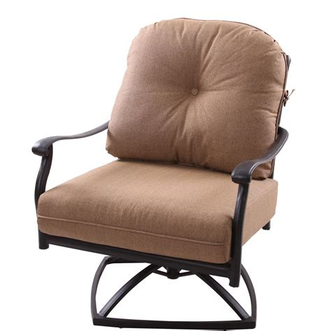 Patio Furniture Chairs by Patio Furniture Cast Aluminum Seating Rocker Swivel