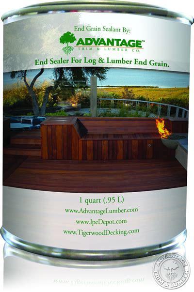 grain sealant  hardwoods  ipe advantagelumber