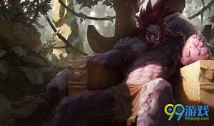 LOL测试服巨魔之王皮肤原画 LOL美服新皮肤原画 99单机游戏