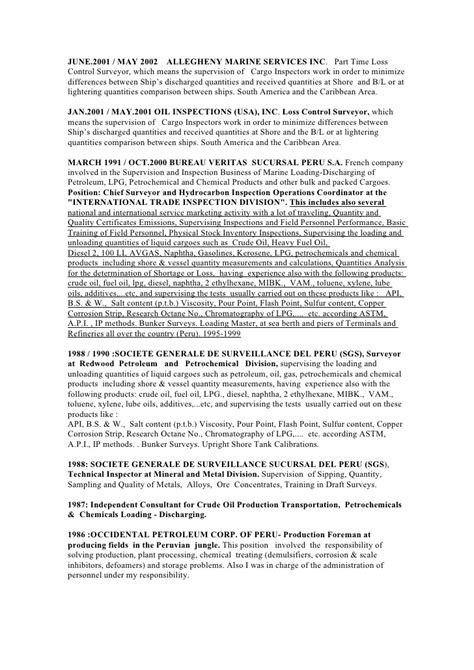 Marine Surveyor Resume by 28 Marine Surveyor Resume Exle Of Qs Cv Sle Resume