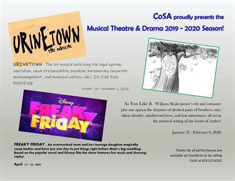cosa presents musical theatre drama season silver strand