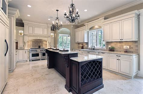 White Cabinets With Granite by Antique White Kitchen Cabinets Design Photos Designing