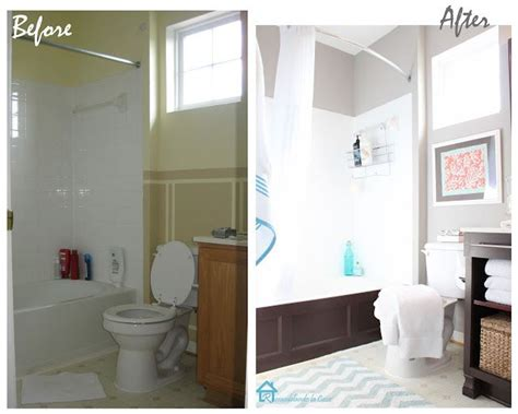 Before And After Small Bathrooms by Small Bathroom Makeovers Before And After Bathroom Re Do