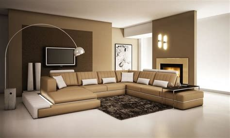 canape couleur taupe and white bonded leather sectional sofa with