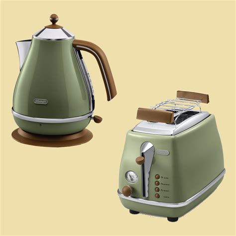 wasserkocher toaster set retro delonghi set icona vintage wasserkocher kbov2001 gr toaster ctov2103 gr ebay