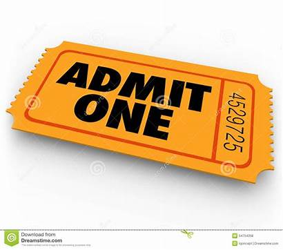 Ticket Admit Entry Theatre Words Concert Clipart