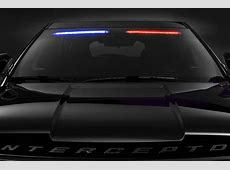 Interior Visor Light Bar Makes 2017 Ford Police
