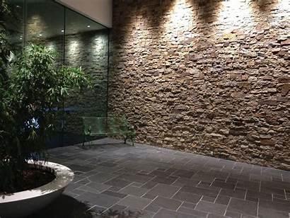 Feature Wall Stone Cladding Walls Lobby Interior