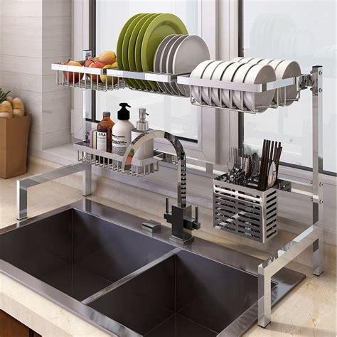 rackshack   sink dish drying rack dish rack stainless steel kitchen shelves drying
