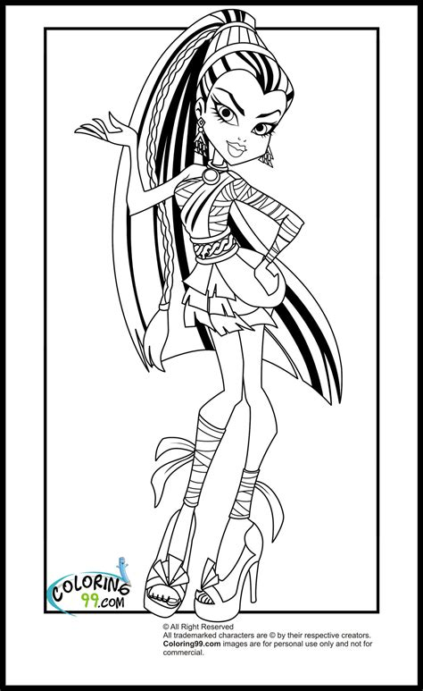 monster high coloring pages   coloring page