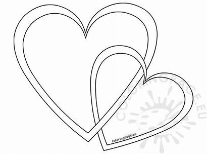 Outline Hearts Mother Coloring Coloringpage