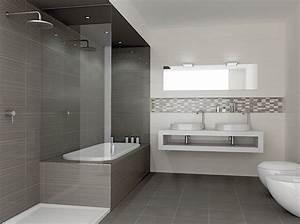 Carrelage salle bain sol ceramique brillant 52441 6202839 for Salle de bain design avec hottes décoratives murales