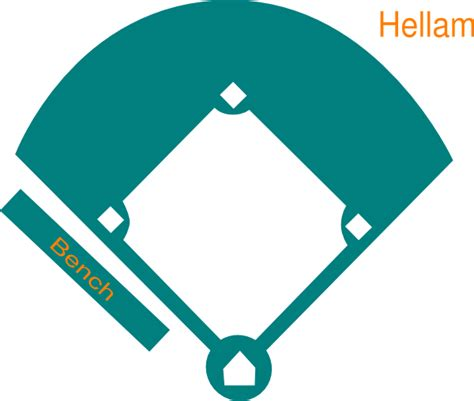 Baseball Field Clip Baseball Field Clip Vector Royalty Free