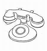 Radio Drawing Coloring Telephone Pages Printable sketch template