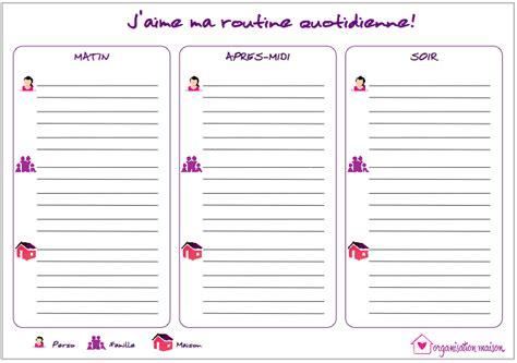 fixer la routine quotidienne organisation maison