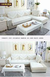 New lace sectional sofa couch cover furniture protector for Sectional sofa covers ebay