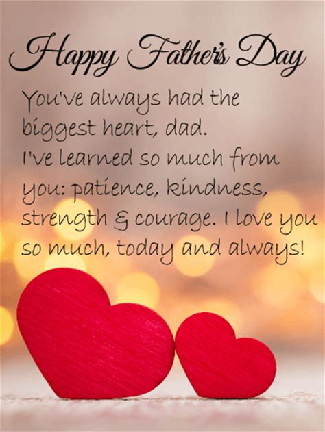love  dad happy fathers day card birthday
