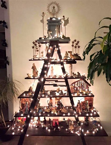 christmas display  ladder shelving