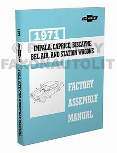 1971 Chevy Car Wiring Diagram Reprint Impala Caprice Bel