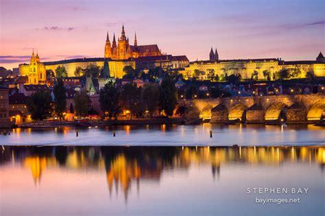 Photo: Prague castle sunset. Prage, Czech Republic.
