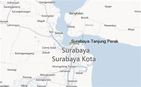 printable map  surabaya city maps