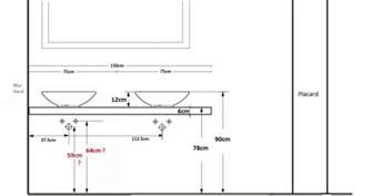 projet salle de bain hauteur plan vasque hauteur 233 vacuation et arriv 233 es d eau 13 messages