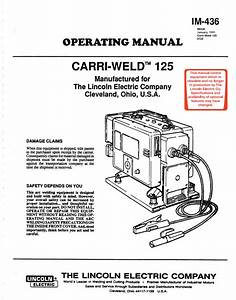 Lincoln Carri-weld 125 Welder Manual