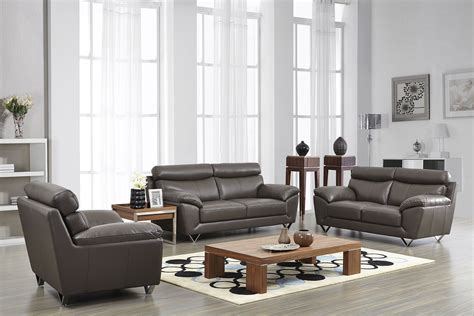 Apartment Leather Sofa by Contemporary Stylish Leather 3pc Sofa Set With Chrome Legs