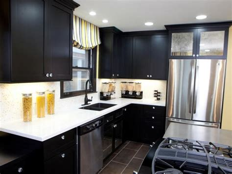 Black Kitchen Cabinets Pictures, Options, Tips & Ideas  Hgtv. Small Kitchen Table And Bench Set. Kitchen Island Bookcase. Small Square Kitchen Design Ideas. Kitchen Backsplash Glass Tile Design Ideas. Metal Kitchen Island Base. Dining Kitchen Design Ideas. Small Kitchen Cost. Small Functional Kitchens