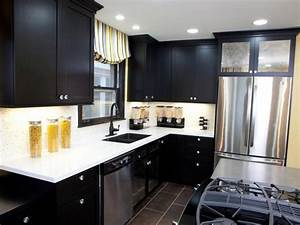black kitchen cabinets pictures options tips ideas hgtv With best brand of paint for kitchen cabinets with windows sticker