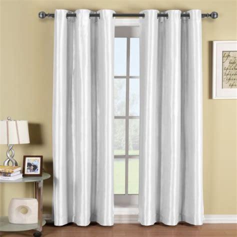 soho white grommet blackout window curtain panel solid