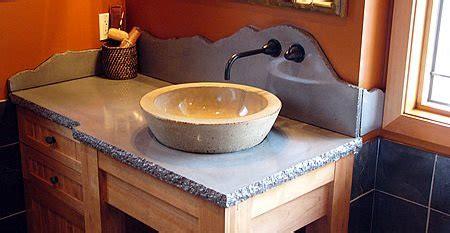 bathroom countertops concrete designs  bathroom