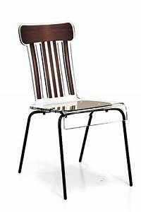 Chaise Bistrot Metal : chaise acrylique bistrot pieds m tal marron mobilier ~ Teatrodelosmanantiales.com Idées de Décoration