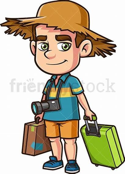 Vacation Traveling Cartoon Clipart Travelling Friendlystock