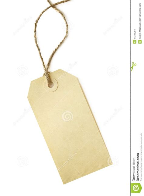 Blank Shipping Tag Stock Photo. Image Of Twine, Close