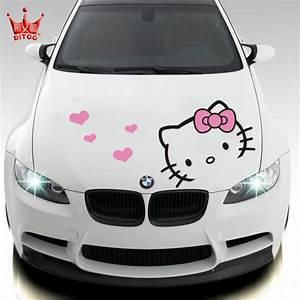 Hello Kitty Autoaufkleber : car styling hello kitty car sticker car hood stickers and decals for ford focus 2 bmw vw kia rio ~ Orissabook.com Haus und Dekorationen