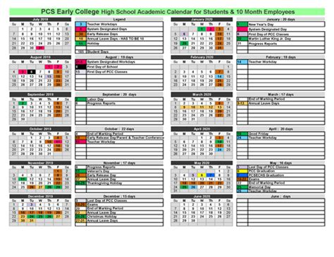calendar school calendars