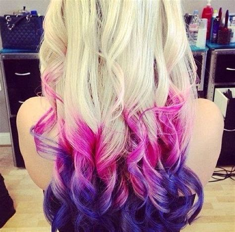 Hair Ombre Pink Purple Life Of The Party Pinterest