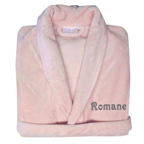 robe de chambre personnalisé robe de chambre polaire brodée une idée de cadeau
