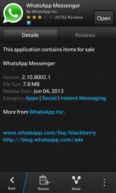 whatsapp update 2 10 9455 blackberry forums at