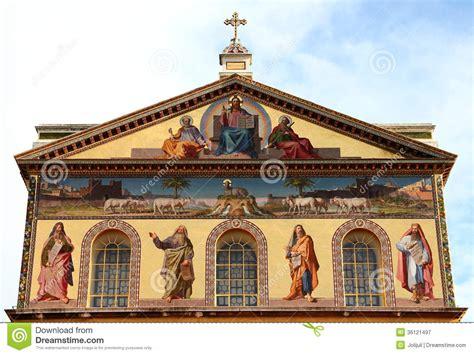 libreria san paolo roma orari basilica of paul outside the wall rome italy stock