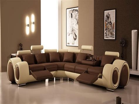 contemporary living room interior design ideas brown wall paint color with beige brown