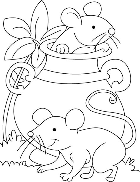 mouse coloring pages coloringpages