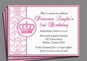 Princess Birthday Party Invitation Wording  U2014 Birthday Invitation Examples