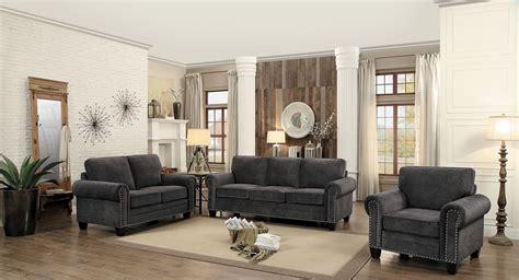 Grey Living Room Sets by Cornelia Grey Living Room Set From Homelegance