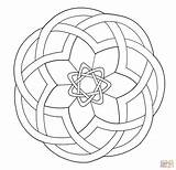 Celtic Coloring Pages Mandala Designs Knotwork Mandalas Simple Printable Stained Glass Print Pottery Patterns Template Adults Pattern Irish Intricate Adult sketch template