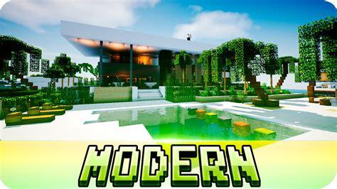 minecraft beautiful modern house   jerenvids youtube